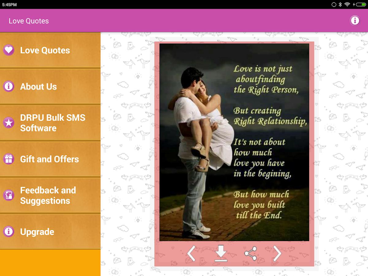 Love Romantic Quotes screenshot