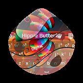 Download Hippie Butterfly GO Keyboard APK