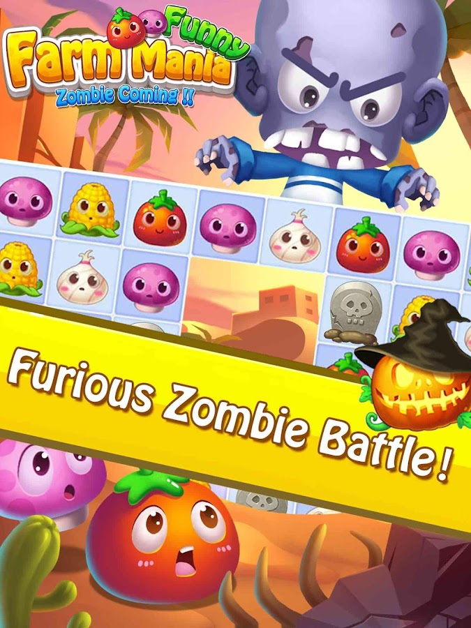 Funny Farm Mania:Zombie Coming- screenshot