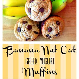 Banana Nut Oat Greek Yogurt Muffins