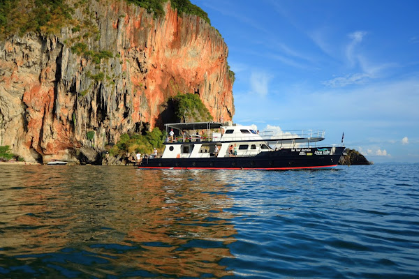 Sail over to Phra Nang Cave Beach at Railay Beach