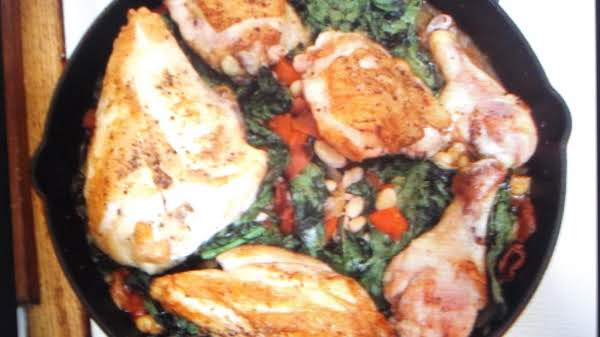 Chicken With White Beans And Spinach Recipe