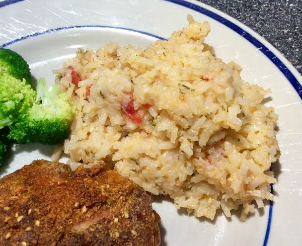 Pink Rice With Parmesan Recipe