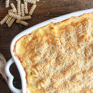 Homemade Baked Macaroni and Double Cheese