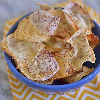 Homemade Taro Chips.