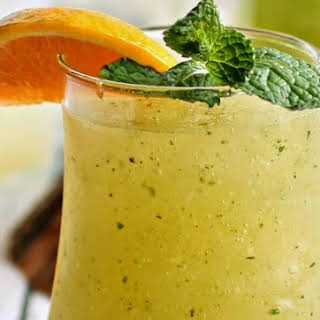 Tangerine Mint Whiskey Slush.