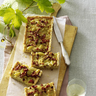 Bacon and Cabbage Tart.
