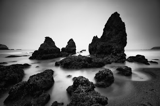 """Photo: """"Jazz Trio"""" - http://www.createwithlightphotography.com  Now in my 500px stream too: http://500px.com/photo/20607361  This is a 70 second exposure of the famous sea stacks on Rodeo Beach in Sausalito, California.  I spent a fantastic, really early morning fog hunting with +Joe Azure in the first half of May. Joe was thee most kind and gracious host and photography guide and is now a lifelong friend. Thanks again Joe, you are such a great guy and I look forward to catching up again soon. I also got to meet +Toby Harriman and +Brian Bach Sørensen that morning , which was really cool.  I used a 10 stop ND filter, and stacked a 3 stop and 1 stop soft grad ND filter and the fog was perfect that morning for creating the right tones around the sea stacks. I have a feeling this is quite a unique take on this well known scene.  I promised +Steve-Maxx landeros and +Nathan Wirth that I would process and share this image first. The name for this image was kindly supplied by Nathan...thanks my friend.  I had such a great week in San Fran and can't wait go back and see all my old and new friends; +Nathan Wirth , +Steve-Maxx landeros , +Albert Tam , +Alan Chan , +Ivan Makarov , +Joe Azure , +Jim Patterson , +kendra karr , +Javier Acosta , +Stefan Bäurle . You folks were such great company and it was awesome to spend time with you all and get to know you better.  This is my contribution to the #LongExposureThursday theme, kindly curated by +Francesco Gola and +Le Quoc , the #ThirstyThursday theme, kindly curated by +Giuseppe Basile and +Mark Esguerra , the #FineArtPls theme, curated by the lovely +Marina Chen and +Fineao Fang , the #BWFineArtLE theme, curated by the amazing Mr +Joel Tjintjelaar and +Black and White Fine Art Photography Gallery , #RectanglesAreSexy curated by the spectacular +Athena Carey , my awesome friend, muse and supporter +dene' miles and finally the #PlusPhotoExtract theme, run by the awesome +Jarek Klimek  All thoughts and comments welcome.  Please vi"""