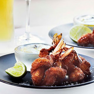 Brioche-crusted Prawns With Coriander And Green Chilli Aïoli.