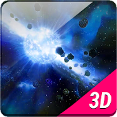 Nice Space Asteroids 3D LWP