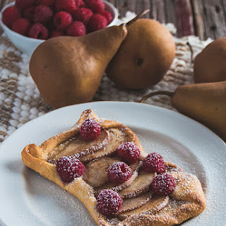 Raspberry Pear Turnovers.