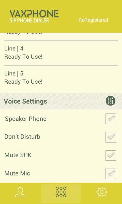 VaxPhone - VoIP SIP Softphone- screenshot