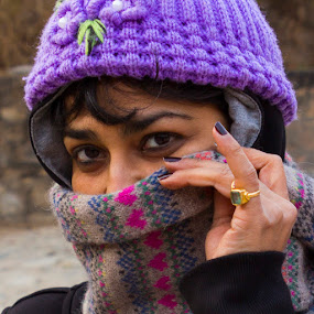 Look by Ajay Sood - People Portraits of Women ( ring, purple, sood, photo images from india, veil, travel, eyes, ajay sood, ajay, woman, lady, travelure, pwcfaces-dq )
