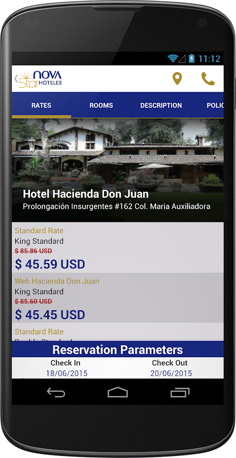 NovaStar Hotels- screenshot