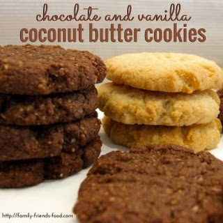 Chocolate And Vanilla Coconut Butter Cookies