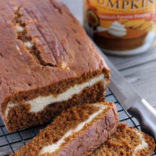 Cream Cheese Filled Pumpkin Bread.