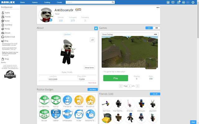Btroblox Making Roblox Better - roblox user stats