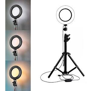 Lampa circulara cu suport selfie, 20W
