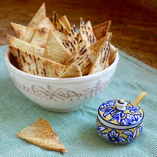 Crunchy Garlic Baked Pita Chips for a Snack or Use With a Dip.