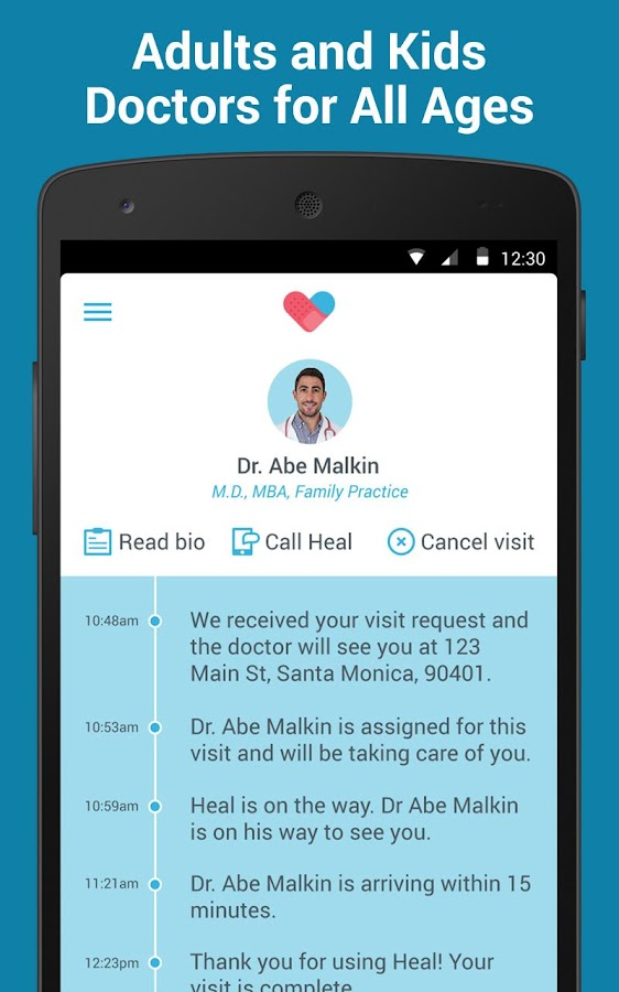 Heal - On-demand doctor visits- screenshot