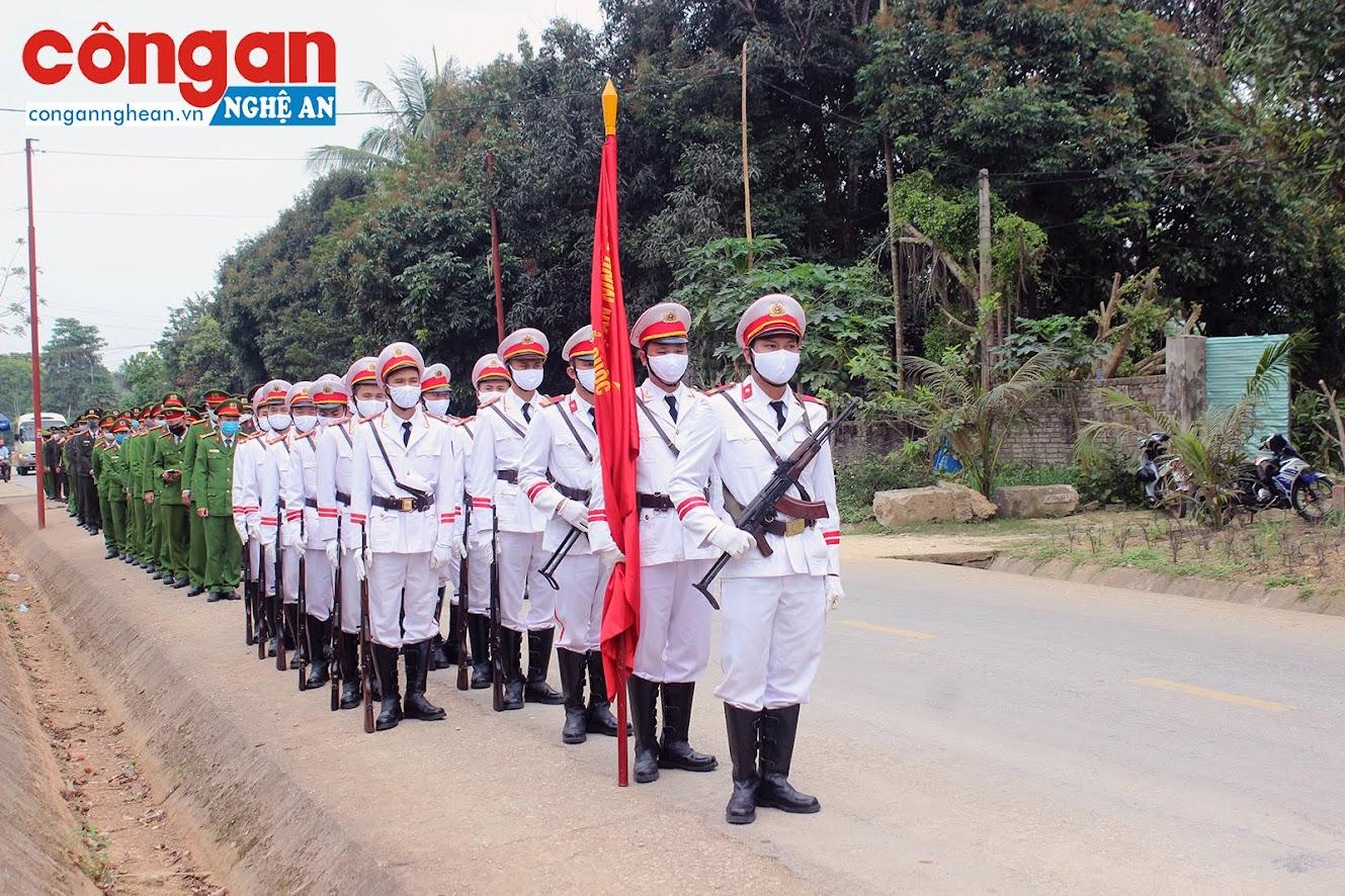 Đội tiêu binh chuẩn bị Lễ truy điệu