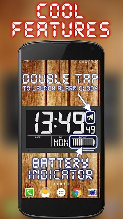 Battery Saving Digital Clocks Live Wallpaper APK Download