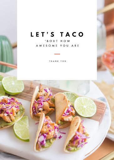 Let's Taco - Photo Card Template