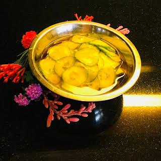 Jean Georges Vongericten's Saffron Cucumber Pickles.