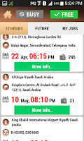 Screenshot of Driver App