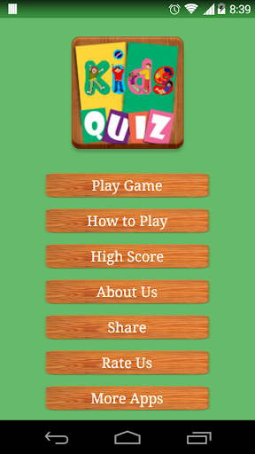 Kids Quiz Game