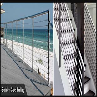 stainless steel railing - náhled