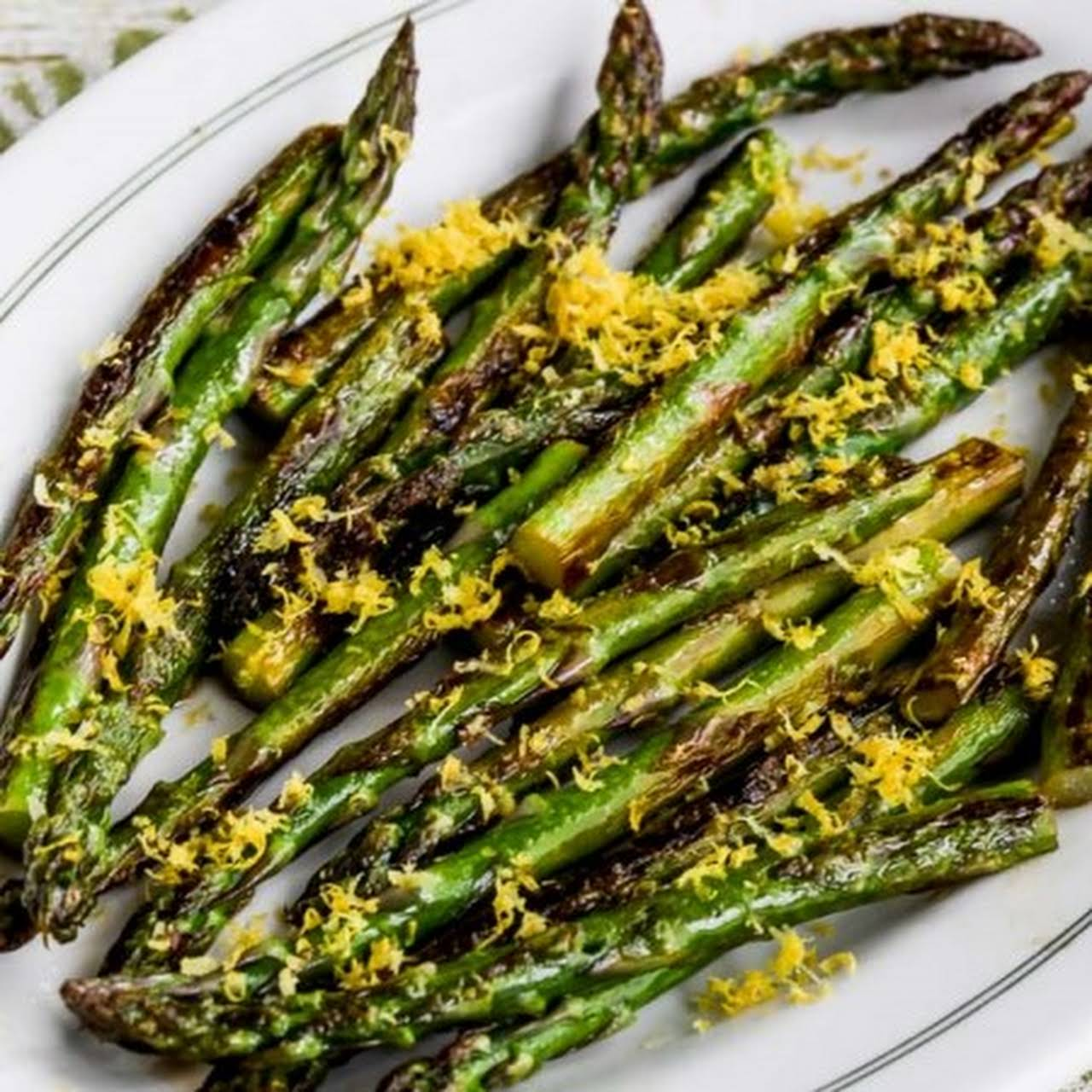 Pan-Fried Asparagus Tips  taking into account bearing in mind Lemon Juice and Lemon Zest