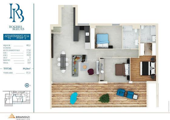 Vente appartement 4 pièces 94,8 m2