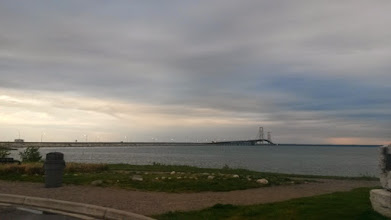 Photo: The goal was to cross it before sundown. I was hoping that the gusts would be less than what I had in Duluth.