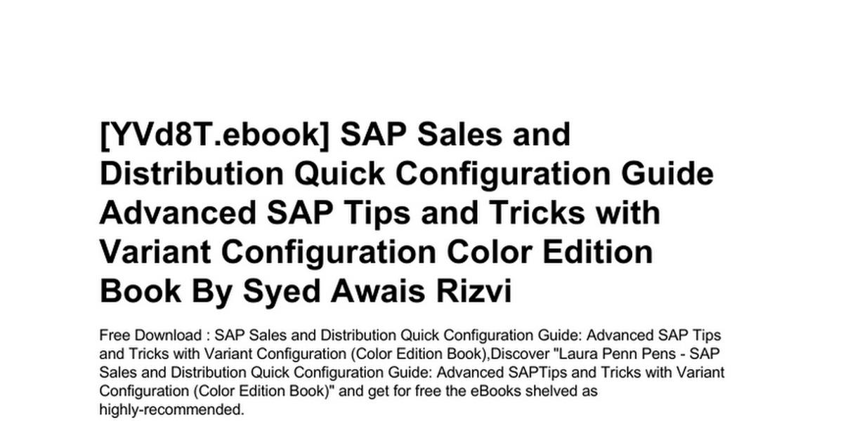 sap-sales-and-distribution-quick-configuration-guide-advanced-sap
