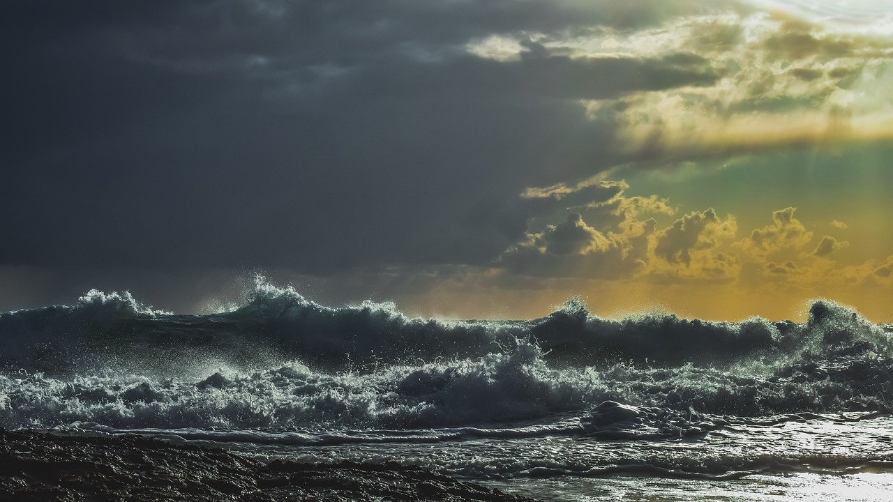 Stormy waves crash ashore in this file photo.