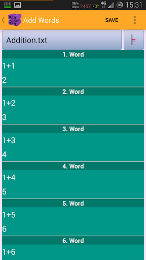 Memorize Everything Me app for Android screenshot