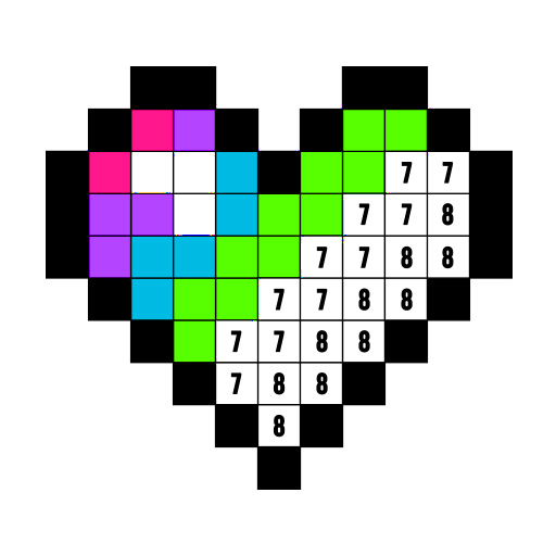 Color by Number: Coloring Book Free - Pixel Art Icon