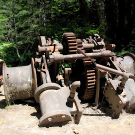 old mining equipment by Aaron Ytterberg - Artistic Objects Industrial Objects