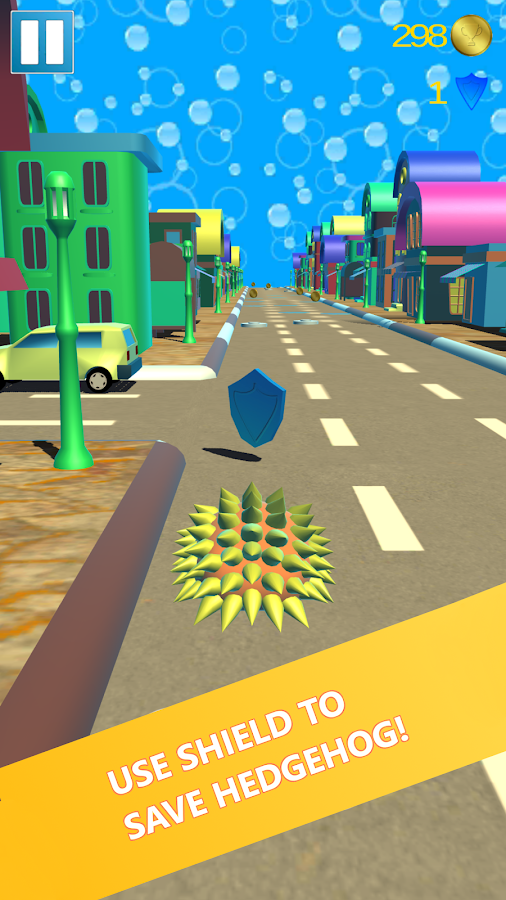 Hedgehog Pet Run - Endless Road Speed Runner Game- screenshot