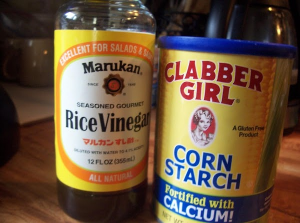 Velveting Chicken:  whisk together rice wine vinegar, egg white, cornstarch & 1T oil...