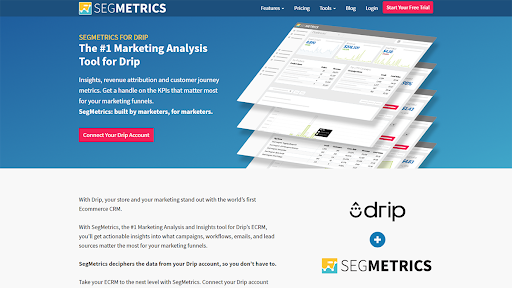 Drip and Segmetrics Integration Screenshot