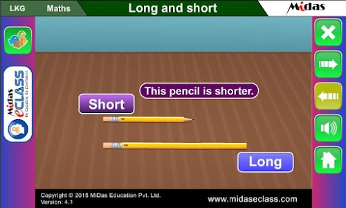 MiDas eCLASS LKG Maths Demo screenshot 1