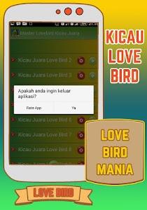 Master Lovebird Kicau Juara screenshot 3