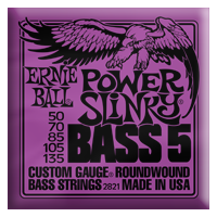 Ernie Ball - Bass 5-strängad Roundwound Nickel Power Slinky 050 - 135 EB-2821
