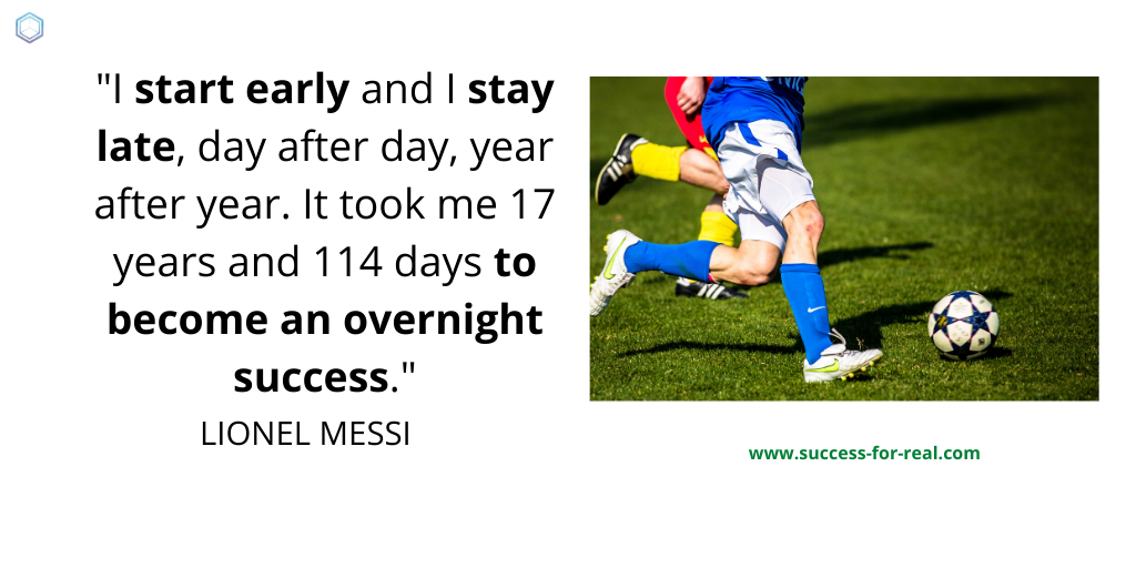 365 Success Quotes For Motivation - Picture Quote By Lionel Messi