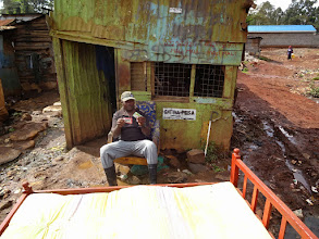 Photo: Njoroge selling used furniture