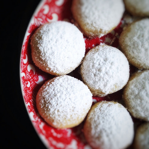 christmas cookies, cookies, cornstarch, Melting Moments, melt in your mouth, recipe, Snowball, 融化時刻, 雪球, 餅乾