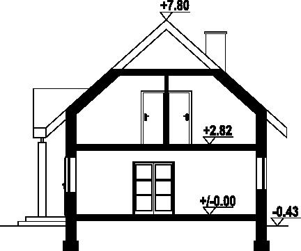 Dzikowo - Przekrój