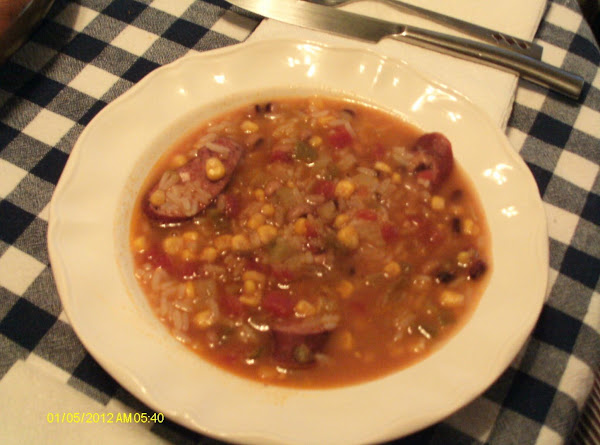 Black Eyed Pea & Sausage Gumbo Recipe